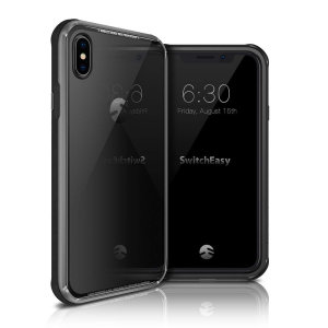 The iGlass 3-in-1 case by SwitchEasy combines a glass back with, TPU and aluminium to provide lightweight protection for your iPhone XS.