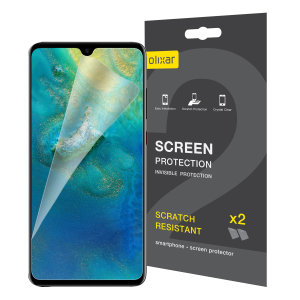 Keep your Huawei Mate 20 screen in pristine condition with this Olixar scratch-resistant screen protector 2-in-1 pack.