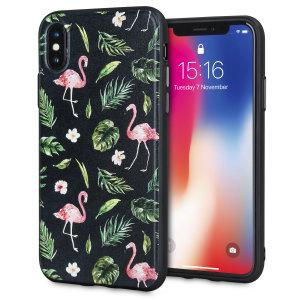 Veredeln und schützen Sie Ihr iPhone XS mit einem Hauch von Paradies mit dieser atemberaubenden Hülle von LoveCases. Ihr iPhone passt perfekt in den sicheren, robusten Rahmen, während das Flamingo Fall-Design Ihrem bereits wunderschönen Gerät einen Hauch von trendiger Schönheit verleiht.