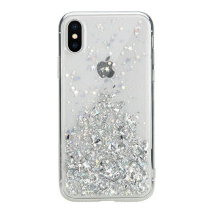 Stand out from the crowd with the Starfield iPhone XS Case from SwitchEasy in clear. With it's unique glitter pattern and slim design, your iPhone will truly sparkle and shine.