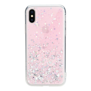 Stand out from the crowd with the Starfield iPhone XS Case from SwitchEasy in pink. With it's unique glitter pattern and slim design, your iPhone will truly sparkle and shine.