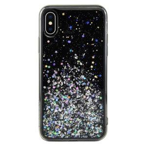 Protección y diseño combinados en esta fantástica funda Starfield para el iPhone XS Max fabricada por SwitchEasy.