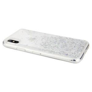 Stand out from the crowd with the Starfield iPhone XS Max Case from SwitchEasy in clear. With it's unique glitter pattern and slim design, your iPhone will truly sparkle and shine.