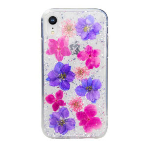 Made using real natural flowers and seashells, the Flash Case from SwitchEasy in purple, provides a unique design for your iPhone XR, while also offering protection from drops, scrapes and other damage.