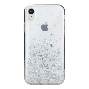 Stand out from the crowd with the Starfield iPhone XR Case from SwitchEasy in clear. With it's unique glitter pattern and slim design, your iPhone will truly sparkle and shine.