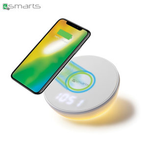 Charge your Qi compatible device wirelessly with the versatile VoltBeam N8 Fast Wireless Charging Stand from 4smarts. Convenient, stylish and well crafted, the VoltBeam N8 features a built in digital clock and lamp.