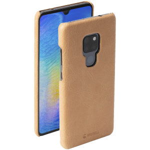 Krusell's Sunne cover in nude combines Nordic chic with Krusell's values of sustainable manufacturing for the socially-aware Huawei Mate 20 owner who wants an elegant genuine leather accessory.
