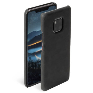 Krusell's Sunne cover in black combines Nordic chic with Krusell's values of sustainable manufacturing for the socially-aware Huawei Mate 20 Pro owner who wants an elegant genuine leather accessory.