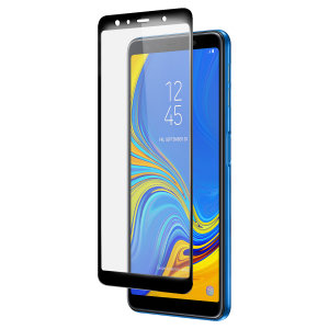 Olixar Galaxy A7 2018 Full Cover Glass Screen Protector - Black