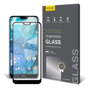 Protégez l'écran de votre Nokia 7.1 à l'aide de la protection d'écran en verre trempé Olixar Full Cover. Une fois appliquée, elle offre une protection robuste à l'écran de votre smartphone, une transparence totale et une sensibilité tactile optimale. Ce verre trempé est doté d'un cadre en coloris noir.