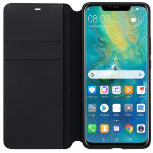 Combining an attractive, professional build with sturdy and durable protection, this official Huawei wallet in black is the premier option for your Huawei Mate 20 Pro and comes complete with a card slot.