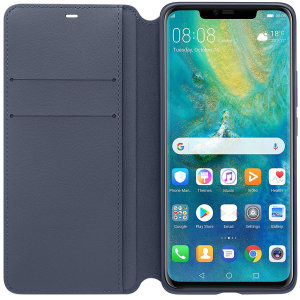 Combining an attractive, professional build with sturdy and durable protection, this official Huawei wallet in blue is the premier option for your Huawei Mate 20 Pro and comes complete with a card slot.