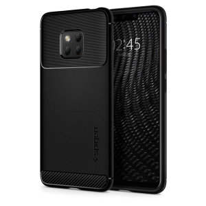 Meet the newly designed rugged armor case for the Huawei Mate 20 Pro. Made from flexible, rugged TPU and featuring a mechanical design, including a carbon fibre texture, the rugged armor tough case in black keeps your phone safe and slim.