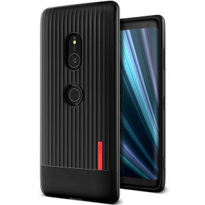 Protect your Sony Xperia XZ3 with this precisely designed and durable case from VRS Design. Made with sturdy, yet flexible and premium material, this black polycarbonate features a slimline design with precise cut-outs for all of your phone's ports.
