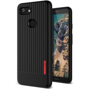 Protect your Google Pixel 3 with this precisely designed and durable case from VRS Design. Made with sturdy, yet flexible premium material, this black polycarbonate hardshell features a slim design with precise cut-outs for your phone's ports.