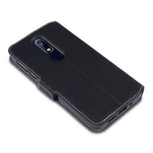 Bénéficiez de tous les avantages d'un portefeuille dans une housse protectrice idéale et parfaitement ajustée pour votre Nokia 7.1. Par ailleurs, cette housse Olixar en coloris noir peut se transformer facilement en support de visionnage, pratique lorsque vous souhaitez regarder une vidéo.