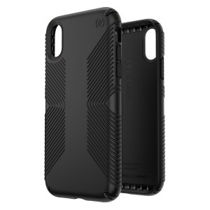 Meet the Speck Presidio Grip - the evolution of the popular CandyShell Grip case. An ultra-rugged black case made from two different protective layers for the iPhone XR from Speck. Features enhanced drop protection, superior matte finish and reduced bulk.