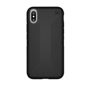 Meet the Speck Presidio Grip - the evolution of the popular CandyShell Grip case. An ultra-rugged black case made from two different protective layers for the iPhone XS from Speck. Features enhanced drop protection, superior matte finish.