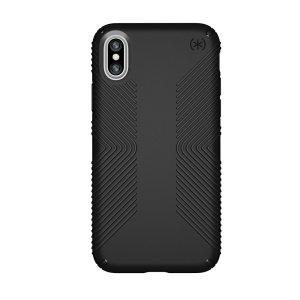 Conozca la nueva Speck Presidio Grip, el modelo nuevo de la popular CandyShell Grip. Se trata de una funda muy protectora fabricada con dos materiales distintos para añadir una excelente protección al iPhone XS.
