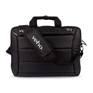 Slim, compact yet durable the Veho T-1 bag offers all-round protection for your laptop or tablet. With a number of compartments and a rear sleeve to slot over flight bags, this is the ultimate laptop bag for when you're on the go.