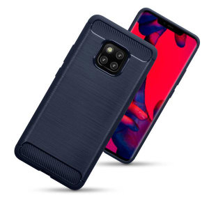 Flexible rugged casing with a blue premium matte finish non-slip carbon fibre and brushed metal design, the Olixar case in black keeps your Huawei Mate 20 Pro protected.
