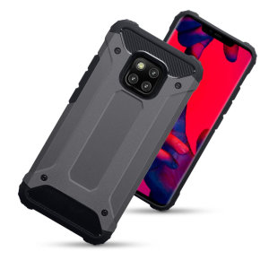 Protect your Huawei Mate 20 Pro from bumps and scrapes with this gunmetal Delta Armour case from Olixar. Comprised of an inner TPU section and an outer impact-resistant exoskeleton.