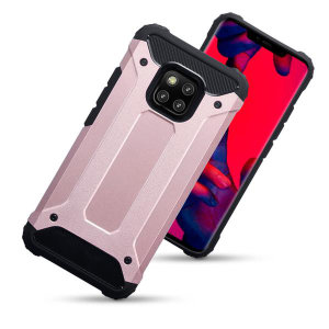 Protect your Huawei Mate 20 Pro from bumps and scrapes with this rose gold Delta Armour case from Olixar. Comprised of an inner TPU section and an outer impact-resistant exoskeleton.