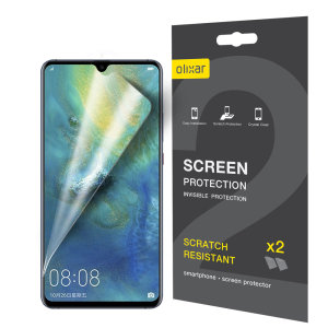 Keep your Huawei Mate 20 X screen in pristine condition with this Olixar scratch-resistant screen protector 2-in-1 pack.