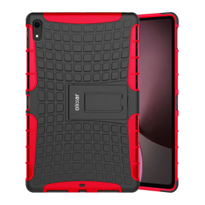 Protect your Apple iPad Pro 12.9 2018 from bumps and scrapes with this red ArmourDillo case. Comprised of an inner TPU case and an outer impact-resistant exoskeleton, the ArmourDillo provides robust protection and supreme styling.