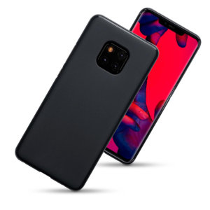 Custom moulded for the Huawei Mate 20 Pro, this matte black Olixar FlexiShield case provides slim fitting and durable protection against damage.