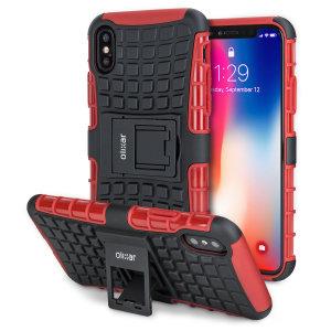 Beskyt din iPhone XS mod stød og ridser med dette sorte ArmourDillo-etui fra Olixar. Bestående af et indvendig TPU-etui og et ydre slagfast cover med indbygget display.