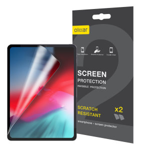 "Keep your iPad Pro 11"" 2018 screen in pristine condition with this Olixar scratch-resistant screen protector 2-in-1 pack. Ultra responsive and easy to apply, these screen protectors are the ideal way to keep your display looking brand new."