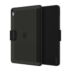 The shock absorbing Clarion Folio case Incipio Faraday iPad Pro 11 2018 Folio Case in Black from Incipio houses your iPad Pro 11 2018 tablet, providing protection and access to your ports and features while incorporating a built-in viewing stand.