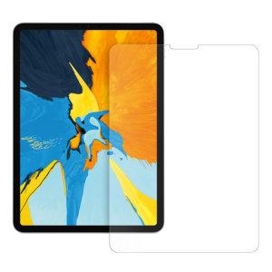 Das 2,5D Glass von Eiger ist aus hochwertigem Echtglas mit abgerundeter Kante und Splitterschutzfolie gefertigt und bietet den ultimativen Bildschirmschutz für den iPad Pro 11.