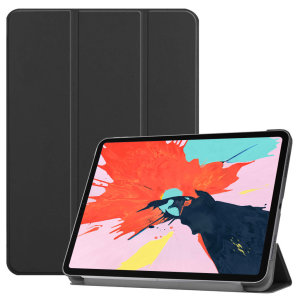 Protect your iPad Pro 11 with this supremely functional black case with viewing stand feature. Also features smart sleep / wake functionality.