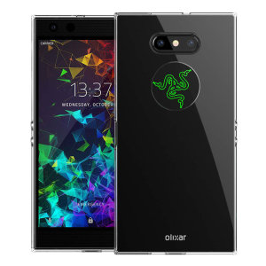 Custom moulded for the Razer Phone 2, this clear Olixar FlexiShield case provides slim fitting and durable protection against damage.