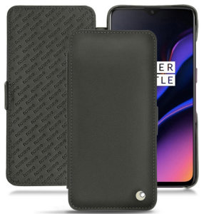Keep your OnePlus 6T well protected from damage with this high quality, beautifully hand-crafted genuine black leather flip case from Noreve. The perfect blend of premium style and functionality.