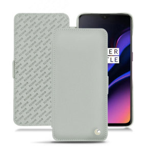 Keep your OnePlus 6T well protected from damage with this high quality, beautifully hand-crafted genuine Light Grey leather flip case from Noreve. The perfect blend of premium style and functionality.
