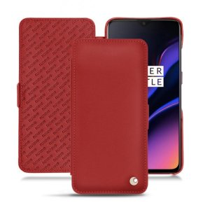 Keep your OnePlus 6T well protected from damage with this high quality, beautifully hand-crafted genuine Red leather flip case from Noreve. The perfect blend of premium style and functionality.