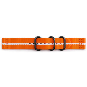 Treat your brand new Gear sport with the ultra-high quality Gear Sport premium Nato strap in Orange and White. Comfortable, durable and stylish, this 42mm strap is the perfect way to personalise your Samsung Gear Sport.