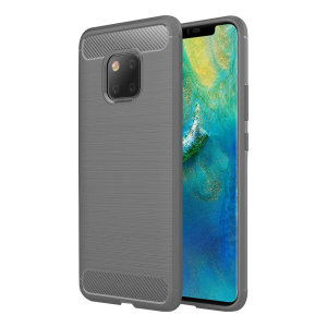 Flexible rugged casing with a premium matte finish non-slip carbon fibre and brushed metal design, the Olixar case in grey keeps your Huawei Mate 20 Pro protected.