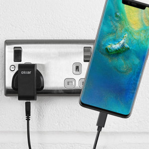 Charge your Huawei Mate 20 Pro and any other USB device quickly and conveniently with this compatible 2.5A high power USB-C UK charging kit. Featuring a UK wall adapter and USB-C cable.