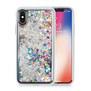 Ultra slim protection for your iPhone Xs Max with the Zizo Glitter Star case in Silver. Featuring dual-layer design and an eye-catching look, this case is built protect your phone against drops and impacts.