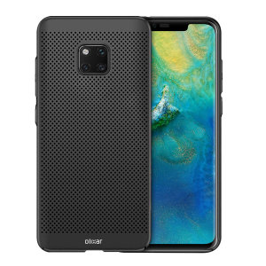 A supremely precision engineered lightweight slimline case in tactical black with a perforated mesh pattern that looks great, adds grip and aids heat dissipation from your Huawei Mate 20 Pro, as well as enhance the high performance beauty of the device.
