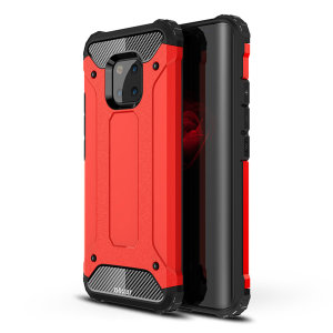 Protect your Huawei Mate 20 Pro from bumps and scrapes with this red Delta Armour case from Olixar. Comprised of an inner TPU section and an outer impact-resistant exoskeleton.