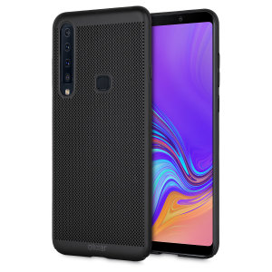 A supremely precision engineered lightweight slimline case in tactical black with a perforated mesh pattern that looks great, adds grip and aids heat dissipation from your Galaxy A9 2018, as well as enhance the high performance beauty of the device.