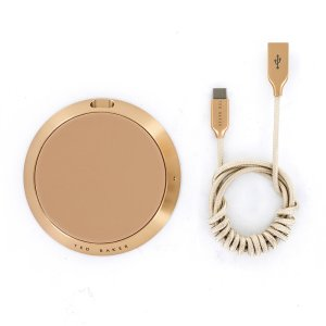 Charge your smartphone quickly with this gorgeous fast wireless charging pad crafted from premium taupe leather. Spend less time waiting around for your phone to charge and more time doing what you want to do with this fast wireless charging pad.