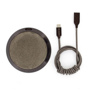 Charge your smartphone quickly with this gorgeous fast wireless charging pad made from luxury Italian grey suede. Spend less time waiting around for your phone to charge and more time doing what you want to do with this fast wireless charging pad.