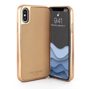 Ted Baker ConnecTed case in taupe and rose gold for the iPhone XS Max offers an outstanding style and functionality while protecting your device from scratches, scrapes and other surface damage.