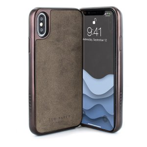 Ted Baker ConnecTed case for iPhone X in Chocolate Grey offers an outstanding style and functionality while protecting your device from scratches, scrapes and other surface damage.